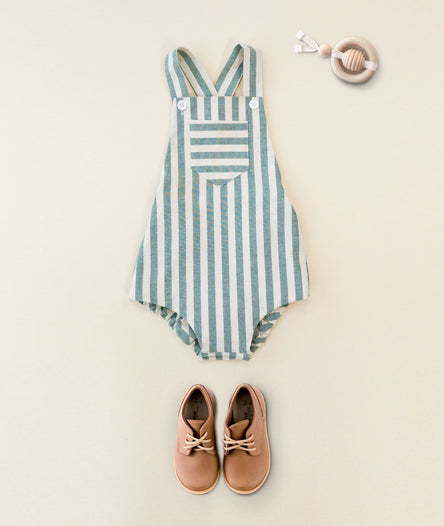 Pacific Green Stripe Sunsuit