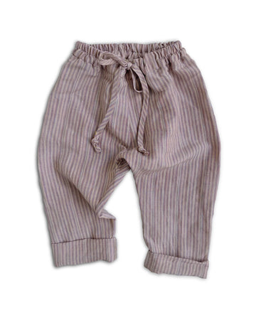 Pebble Stripe Linen Pants