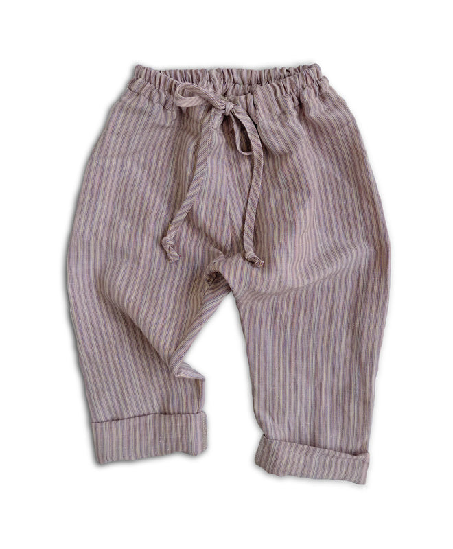 SALE Pebble Stripe Linen Pants