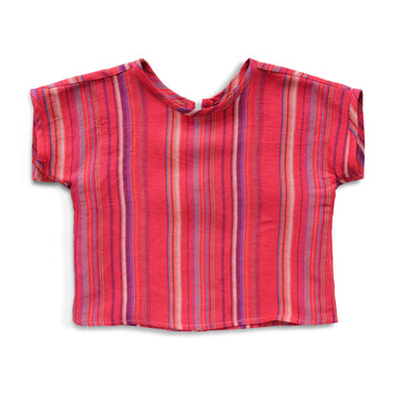 Multi Rojo Stripe Top
