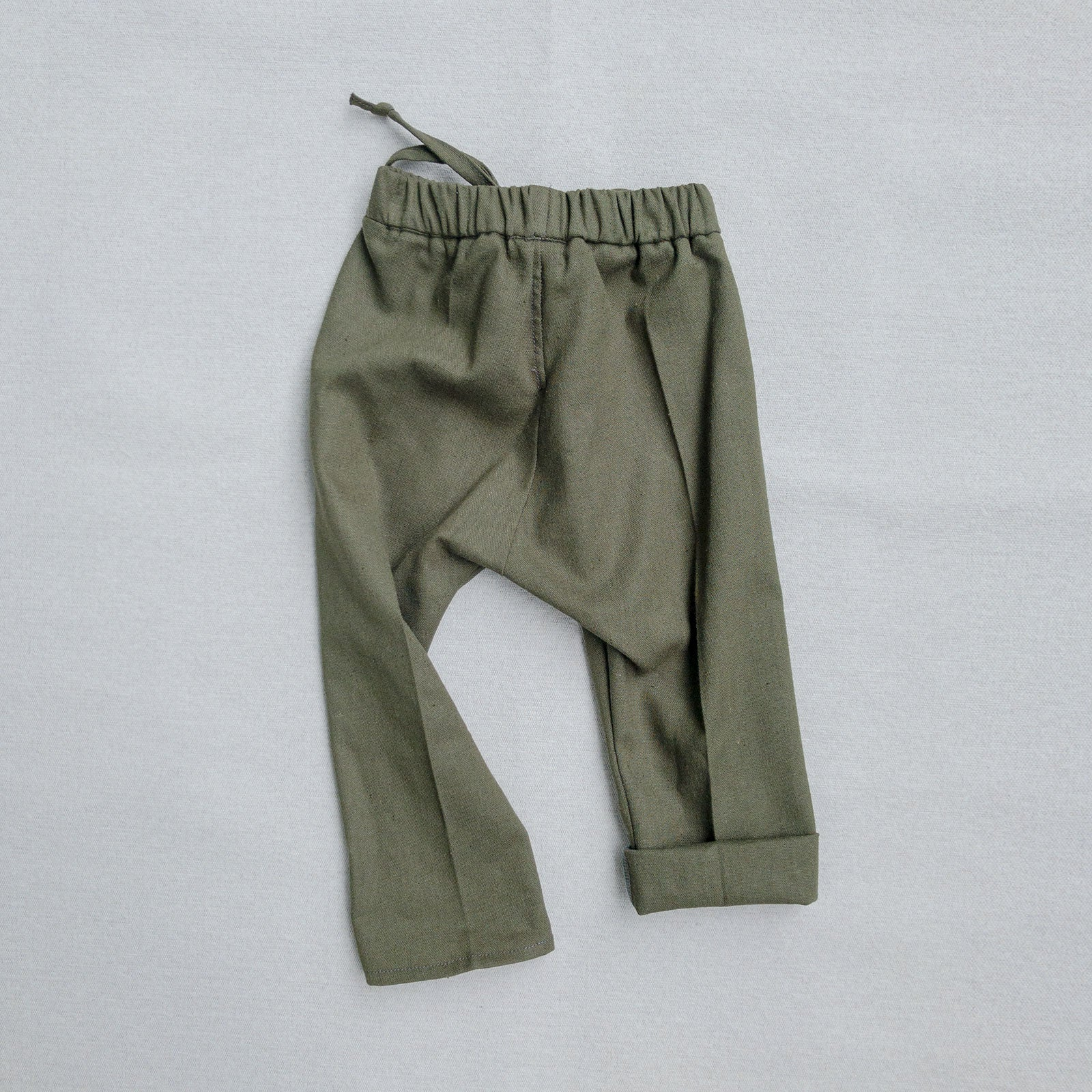 River Rock Green Linen Pants