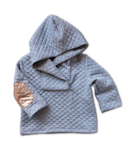 Grey Heather Cocoon Pull-over Hoodie