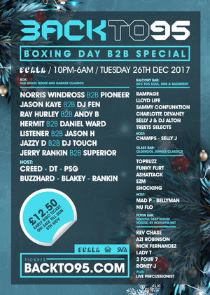 BACKTO95 BOXING DAY SPECIAL AT SCALA LONDON