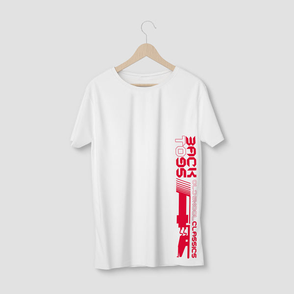 BackTo95 Tonearm Logo Tee - White/Red