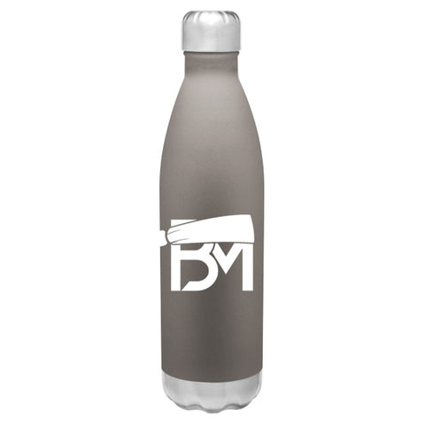 BM Insulated Hot/Cold Thermal Bottle - Gray - Baker Mayfield Official