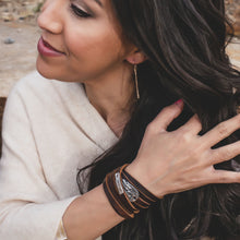 Load image into Gallery viewer, Double Wrap Leather Cuff Bracelet-Liv & B
