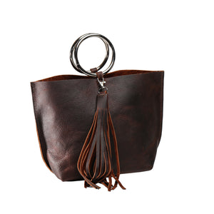 Carried Away Leather Bag-Liv & B