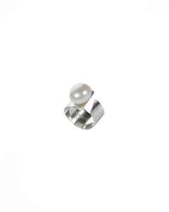 Charming Sterling Silver and Pearl Ring-Liv & B