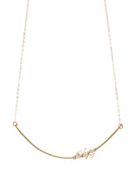 Load image into Gallery viewer, Clarity 14k Gold Fill Herkimer Diamond Cluster Necklace-Liv & B