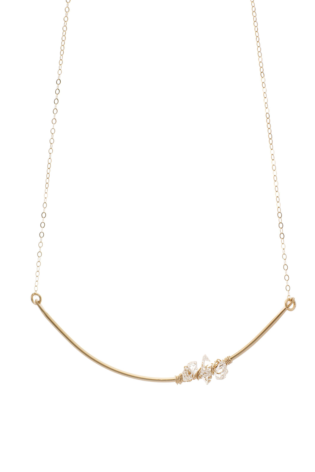 Clarity 14k gold fill cluster Necklace