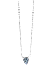 Insightful Teal Kyanite Sterling Silver Necklace-Liv & B