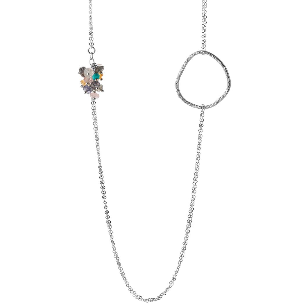 Serenity Long Beaded Necklace-Liv & B