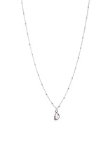 Load image into Gallery viewer, Diamond slice Necklace Sterling silver