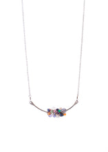 Load image into Gallery viewer, Hot Mess Gemstone Cluster Necklace-Liv & B
