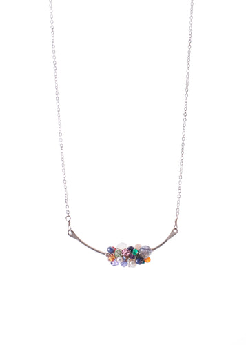 Hot Mess cluster gemstone necklace