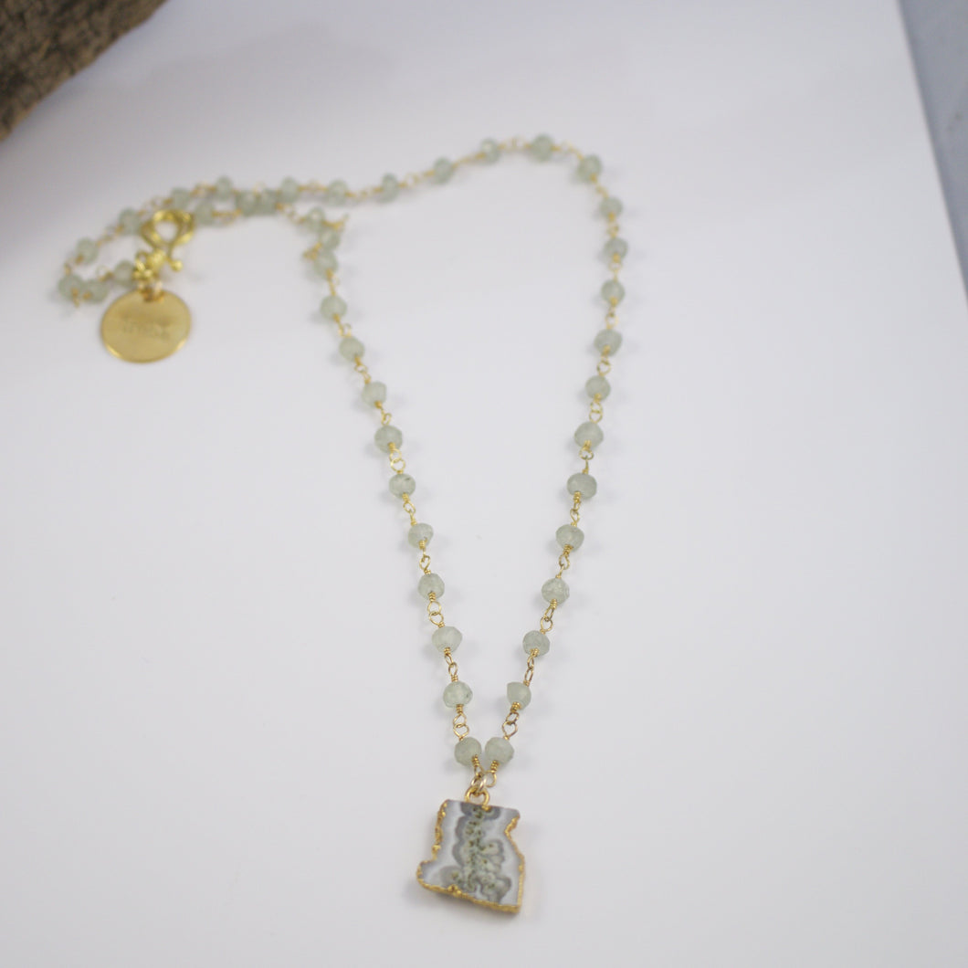 Alex Rosary Chain Gemstone Necklace-Liv & B