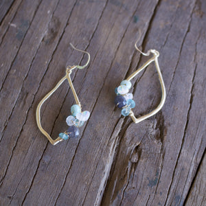 Clara 14K Gold Fill Gemstone Cluster Earrings-Liv & B