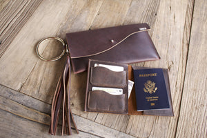 Find Your Adventure Leather Passport Book-Liv & B