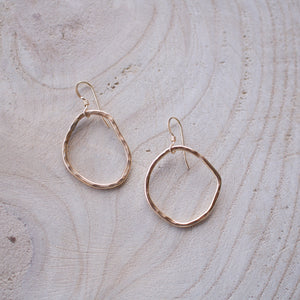 Molly long silver hoops