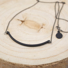Load image into Gallery viewer, Align Black Bar Necklace-Liv & B