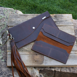Handmade Leather Wallet with Tassel-Liv & B