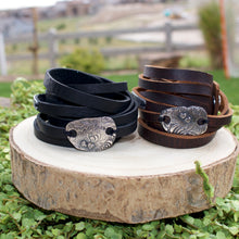 Load image into Gallery viewer, Double wrap Leather Cuff
