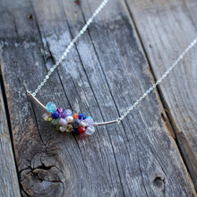 Load image into Gallery viewer, Hot Mess cluster gemstone necklace