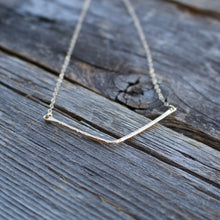 Load image into Gallery viewer, Evelyn Gold Bent Bar Necklace-Liv & B