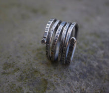 Load image into Gallery viewer, Silver Adjustable Spiral Textured Ring-Liv & B