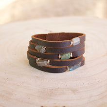 Load image into Gallery viewer, Cinco Leather Wrap Bracelet Brown-Liv & B