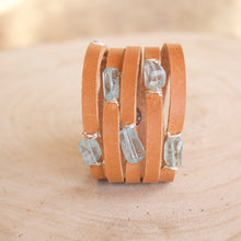 Load image into Gallery viewer, Cinco Leather Wrap Bracelet Tan-Liv & B