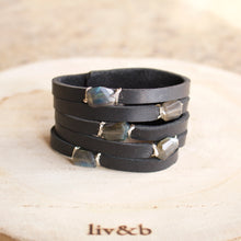 Load image into Gallery viewer, Cinco Leather Wrap Bracelet Black-Liv & B