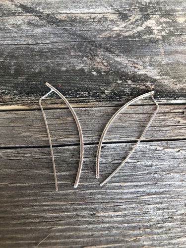 Lauren Bar Hoop Earrings-Liv & B