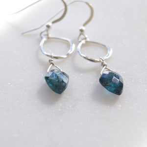 Insightful Teal Kyanite Earrings-Liv & B