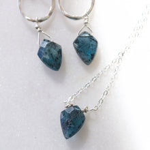 Load image into Gallery viewer, Insightful Teal Kyanite Earrings-Liv & B