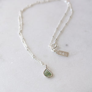 Blue Diamond Slice Necklace-Liv & B