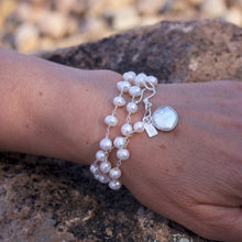 Load image into Gallery viewer, Its A Wrap Triple Pearl Bracelet-Liv & B