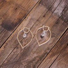 Load image into Gallery viewer, Sterling Silver Herkimer Diamond Hoops-Liv & B