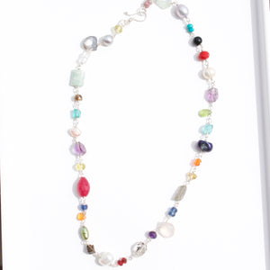 Multi Gemstone Necklace-Liv & B