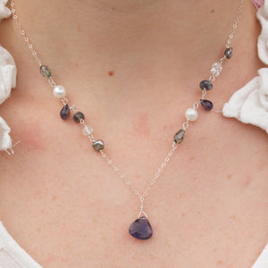 Life's a Dance gemstone necklace