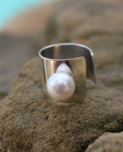 Load image into Gallery viewer, Charming Sterling Silver and Pearl Ring-Liv & B