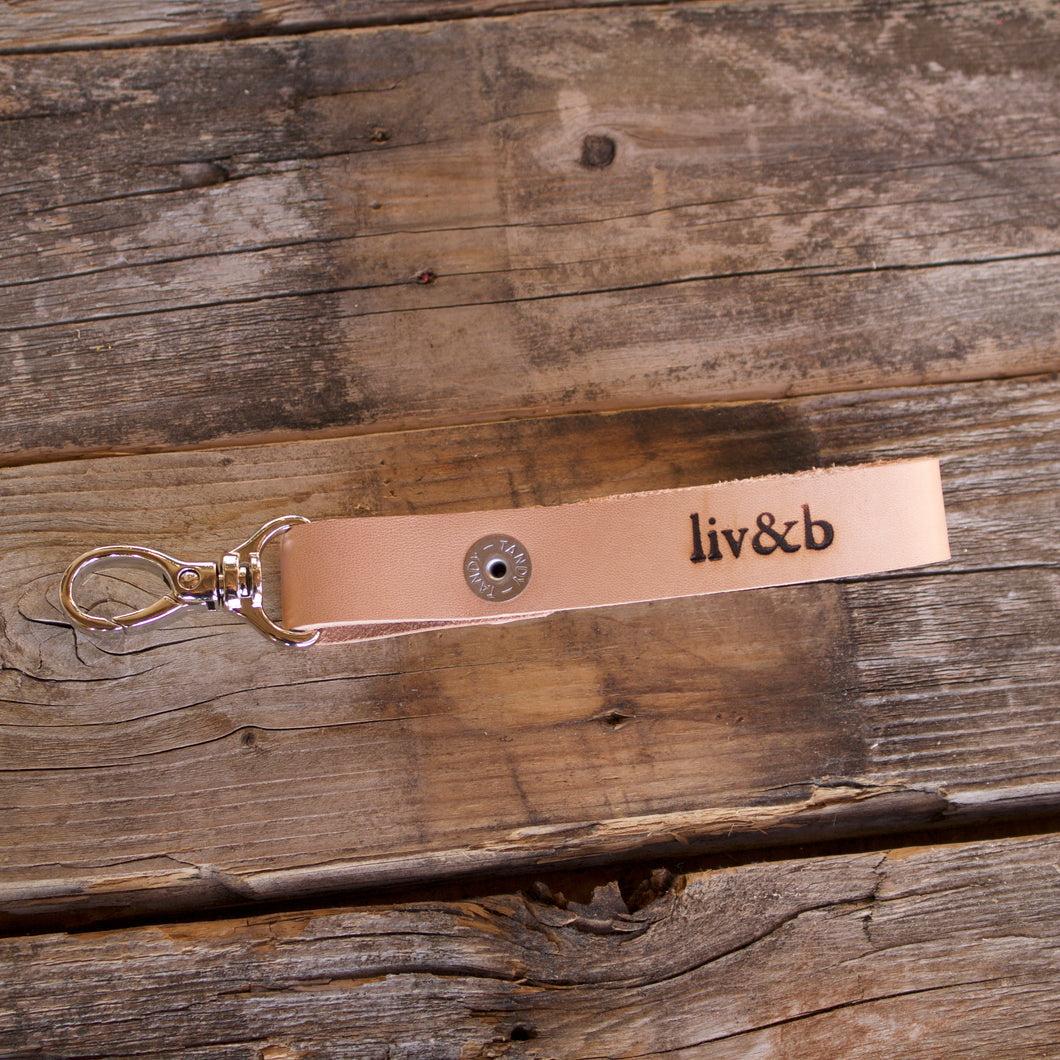 Leather Key Fob-Liv & B
