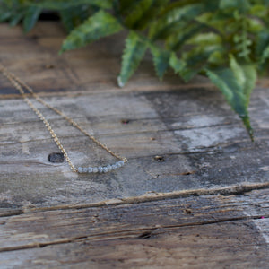 Diamonds In The Raw Sterling Silver Necklace-Liv & B