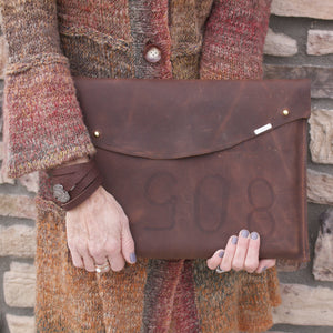 The Planner Kodiak Leather Laptop Sleeve-Liv & B