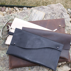 GNO Leather Handmade Clutch-Liv & B