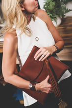 Load image into Gallery viewer, The Planner Kodiak Leather Laptop Sleeve-Liv & B