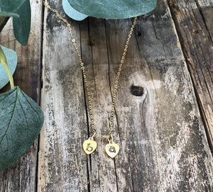 Mini Hearts 14K Gold Fill Necklace-Liv & B