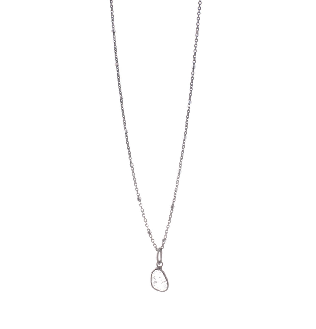 Diamond slice Necklace Sterling silver