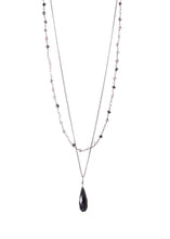 Load image into Gallery viewer, Riverdale Black Oxidized Sterling Silver Necklace-Liv & B