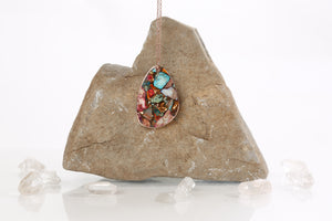 Multi-Colored Regalite and Goldstone Necklace